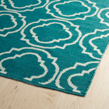 Kaleen Brisa BRI07-91 Teal/Ivory Area Rug Close-up Shot