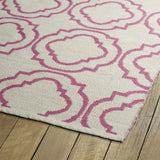 Kaleen Brisa BRI07-92 Ivory/Pink Area Rug Close-up Shot
