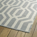 Kaleen Brisa BRI08-75 GreyIvory Area Rug Close-up Shot