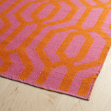 Kaleen Brisa BRI08-92 Pink/Rust Area Rug Close-up Shot
