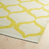 Kaleen Brisa BRI09-28 Ivory/Yellow Area Rug Close-up Shot