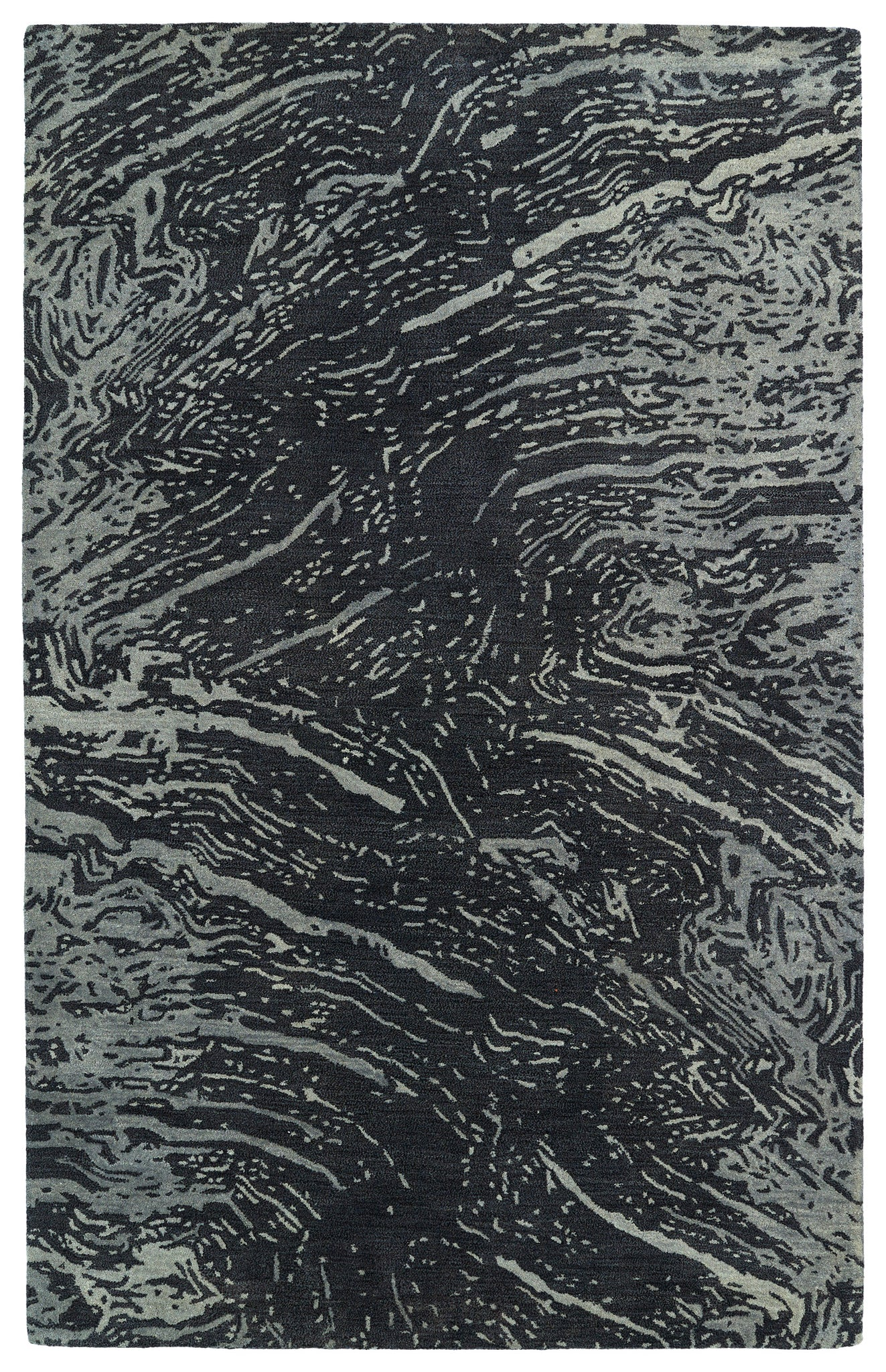 Kaleen Brushstrokes BRS01-38 Charcoal Area Rug main image