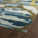 Kaleen Brushstrokes BRS02-17 Blue Hand Tufted Area Rug