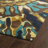 Kaleen Brushstrokes BRS04-40 Chocolate Area Rug Close-up Shot Feature