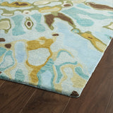 Kaleen Brushstrokes BRS04-91 Teal Area Rug Close-up Shot Feature