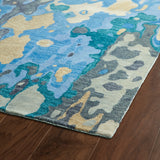 Kaleen Brushstrokes BRS05-17 Blue Area Rug Close-up Shot