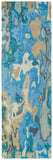 Kaleen Brushstrokes BRS05-17 Blue Area Rug Runner Shot