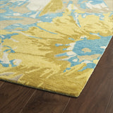 Kaleen Brushstrokes BRS06-05 Gold Area Rug Close-up Shot Feature