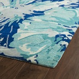 Kaleen Brushstrokes BRS06-17 Blue Area Rug Close-up Shot Feature