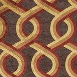 Surya Basilica BSL-7191 Burgundy Machine Loomed Area Rug Sample Swatch