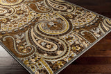 Surya Basilica BSL-7198 Chocolate Machine Loomed Area Rug Corner Shot