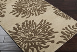 Surya Bombay BST-493 Chocolate Hand Tufted Area Rug 5x8 Corner