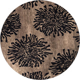 Surya Bombay BST-496 Charcoal Area Rug 8' Round