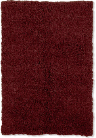 Linon 3A Flokati 2000 grams FLK-3AM03 Burgundy Area Rug main image