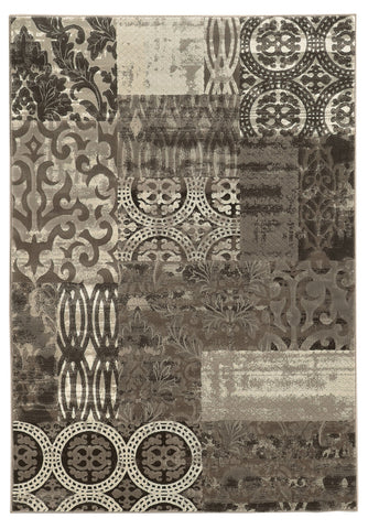 Linon Jewel Collection RUG-BYJ03 BLACK/Black Area Rug main image