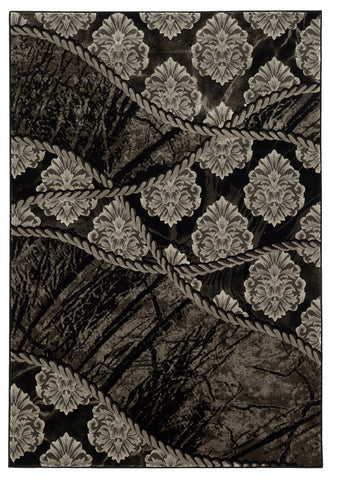 Linon Jewel Collection RUG-BYJ05 Brown/Black Area Rug main image