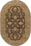 Surya Caesar CAE-1009 Chocolate Area Rug 6' x 9' Oval