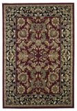 KAS Cambridge 7301 Red/Black Kashan Machine Woven Area Rug