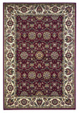 KAS Cambridge 7306 Red/Ivory Floral Agra Machine Woven Area Rug