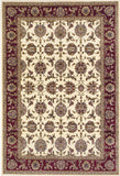 KAS Cambridge 7312 Ivory/Red Kashan Machine Woven Area Rug