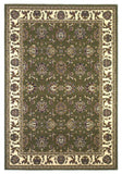 KAS Cambridge 7314 Green/Ivory Kashan Machine Woven Area Rug