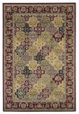 KAS Cambridge 7325 Red Kashan Panel Machine Woven Area Rug