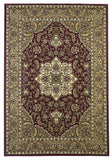 KAS Cambridge 7326 Red/Beige Kashan Medallion Machine Woven Area Rug