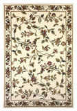 KAS Cambridge 7331 Ivory Floral Vine Machine Woven Area Rug