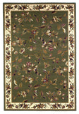 KAS Cambridge 7332 Sage/Ivory Floral Vine Machine Woven Area Rug