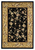 KAS Cambridge 7336 Black/Beige Floral Delight Machine Woven Area Rug