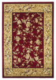 KAS Cambridge 7337 Red/Beige Floral Delight Machine Woven Area Rug
