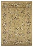 KAS Cambridge 7338 Beige Floral Delight Machine Woven Area Rug