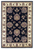 KAS Cambridge 7339 Black/Ivory Floral Mahal Machine Woven Area Rug