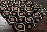 Surya Modern Classics CAN-1956 Black Hand Tufted Area Rug by Candice Olson 5x8 Corner