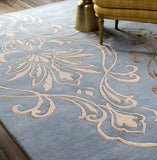 Surya Modern Classics CAN-1980 Sky Blue Hand Tufted Area Rug by Candice Olson