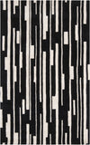 Surya Modern Classics CAN-1998 Black Area Rug by Candice Olson 5' x 8'