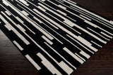 Surya Modern Classics CAN-1998 Black Hand Tufted Area Rug by Candice Olson 5x8 Corner