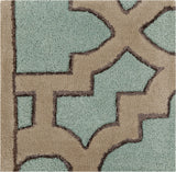 Surya Modern Classics CAN-2034 Teal Hand Tufted Area Rug by Candice Olson 16'' Sample Swatch