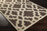 Surya Modern Classics CAN-2035 Chocolate Hand Tufted Area Rug by Candice Olson 5x8 Corner