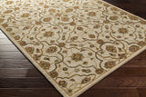 Surya Carrington CAR-1003 Beige Hand Tufted Area Rug 5x8 Corner