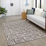 Momeni Caravan CAR-6 Grey Area Rug Room Scene