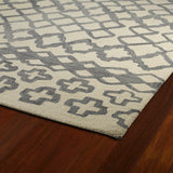 Kaleen Casablanca CAS01 Grey Area Rug Close-up Shot Feature