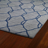 Kaleen Casablanca CAS02 Blue Area Rug Close-up Shot