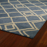 Kaleen Casablanca CAS04 Blue Area Rug Close-up Shot