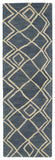Kaleen Casablanca CAS04 Blue Area Rug Runner Shot