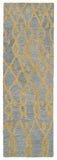 Kaleen Casablanca CAS06 Light Blue Area Rug Runner Shot