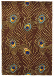 KAS Catalina 0748 Mocha Peacock Feathers Hand Tufted Area Rug