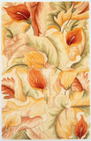 KAS Catalina 0758 Ivory Calla Lilies Hand Tufted Area Rug