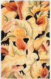 KAS Catalina 0759 Black Calla Lilies Hand Tufted Area Rug