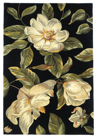 KAS Catalina 0761 Black Magnolia Hand Tufted Area Rug